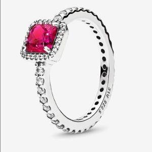 Ruby red pandora ring size 7